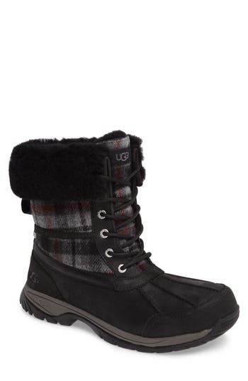 Ugg Butte Boot With Faux Fur Trim