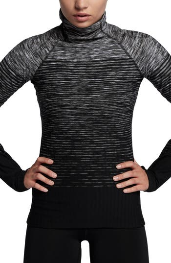 Nike Pro Hyperwarm Long Sleeve Training Top, Grey
