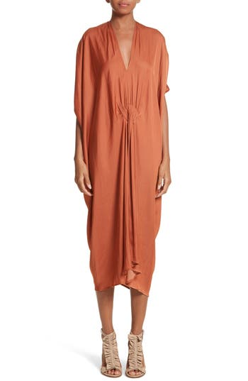 Zero + Maria Cornejo Drape Drift Dress, Orange