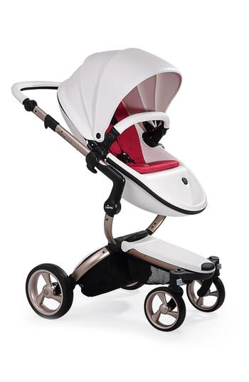 Infant Mima Xari Rose Gold Chassis Stroller With Reversible Reclining Seat  Carrycot Size One Size  Blue