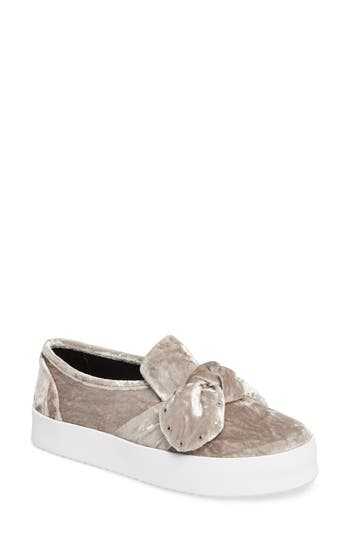 Rebecca Minkoff Stacey Studded Platform Slip-On- Grey