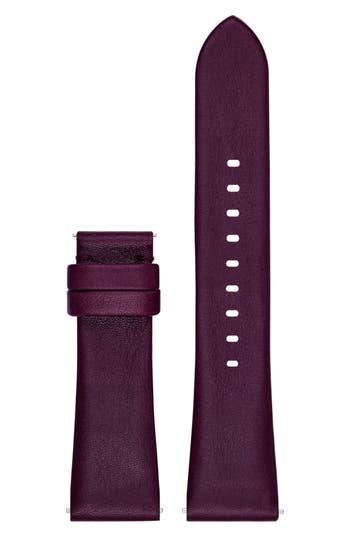 Women's Michael Kors Access Bradshaw 22Mm Leather Watch Strap