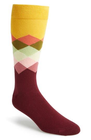 Men's Happy Socks Argyle Socks, Size One Size - Burgundy