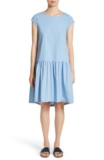 Fabiana Filippi Poplin Drop Waist Dress, 8 IT - Blue