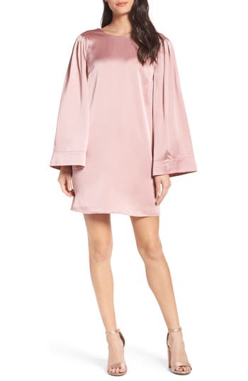 Chelsea28 Ruffle Crossback Shift Dress, Pink