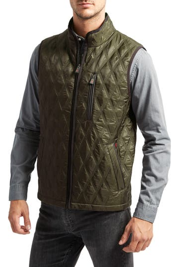 Thermoluxe Huntsville Triple Stitch Quilted Heat System Vest, Green