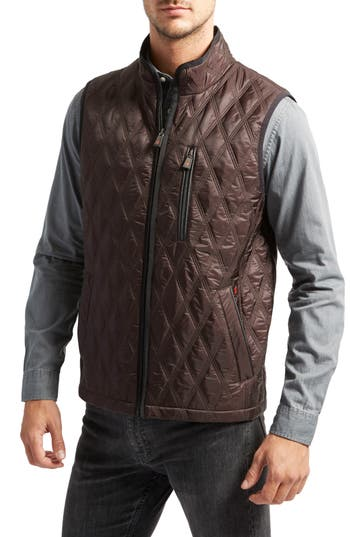 Thermoluxe Huntsville Triple Stitch Quilted Heat System Vest, Brown