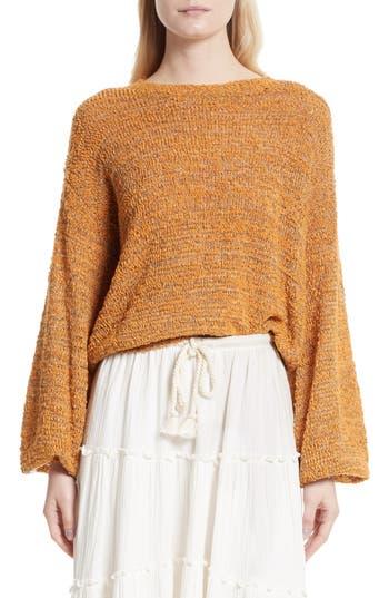 See By Chloe Merino Wool Blend Crewneck Sweater, Beige