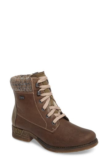 Rieker Antistress Fee 02 Lace-Up Boot, Green