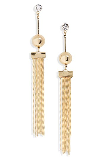 Women's Girly Ball And Chain Earrings