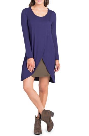 Savi Mom Lenox Crossover Front Maternity/nursing Dress, Blue