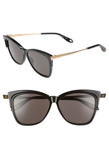 Givenchy 57Mm Cat Eye Sunglasses - Black