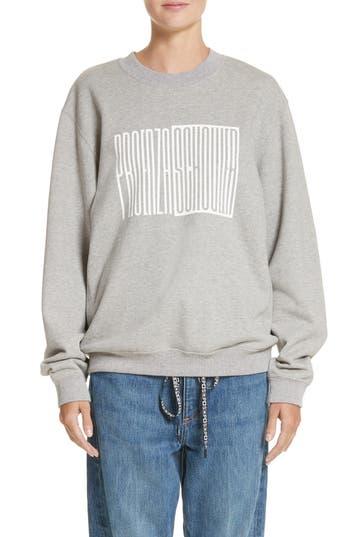 Women's Proenza Schouler Pswl Graphic Jersey Oversize Sweatshirt at NORDSTROM.com
