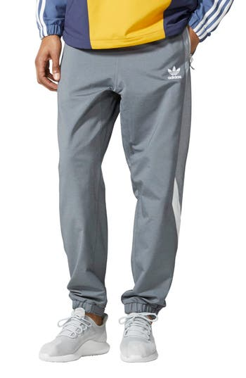 Men's Adidas Originals Blocked Wind Pants, Size Large - Grey