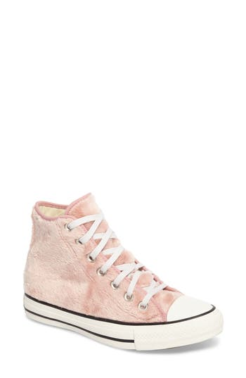 Converse Chuck Taylor All Star Faux Fur High Top Sneakers- Pink