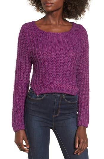 Women's Raga Bethany Crop Sweater, Size X-Small - Purple