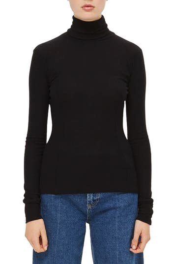 Topshop Boutique Wool Turtleneck Sweater