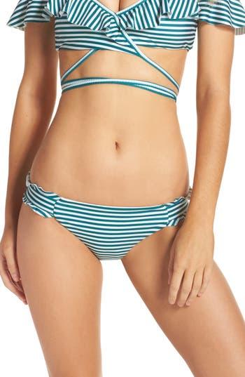 Isabella Rose Avalon Ruffle Bikini Bottoms, Black