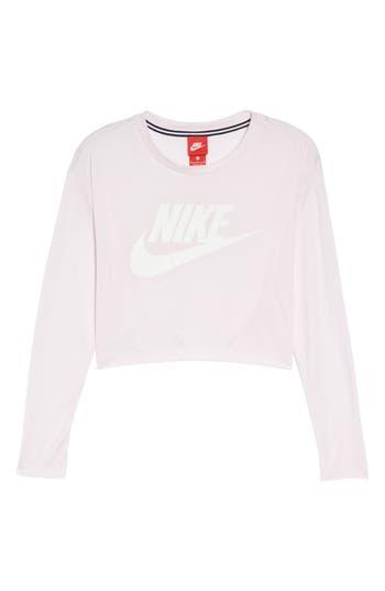 Nike Sportswear Graphic Crop Tee, Pink