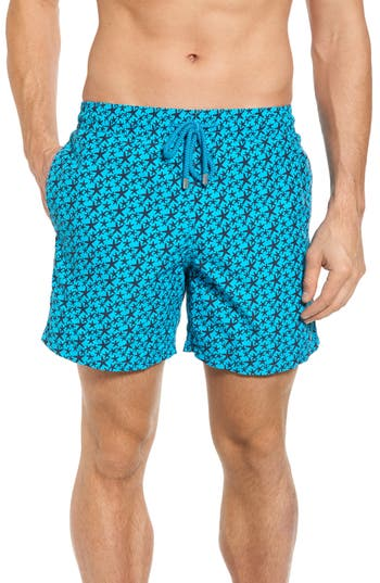 Vilebrequin Micro Starlets Swim Trunks, Blue