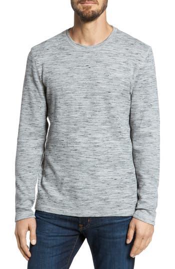 Men's Nordstrom Men's Shop Waffle Knit Shirt, Size Large - Grey