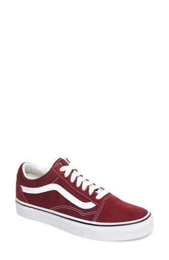 Women's Vans Old Skool Sneaker, Size 11 M - Burgundy