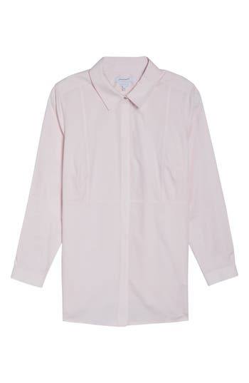 Plus Size Foxcroft Pinpoint Oxford Cloth Shirt, Pink