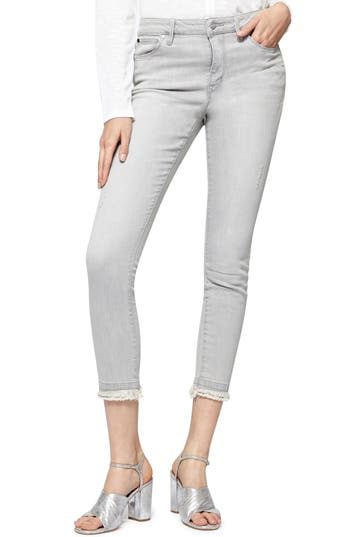 Sanctuary Saige Double Fray Ankle Jeans, Grey