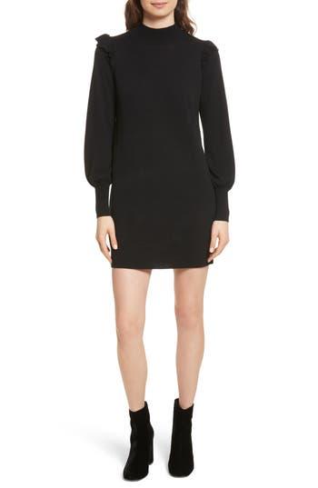 Joie Catriona Wool & Silk Sweater Dress, Black