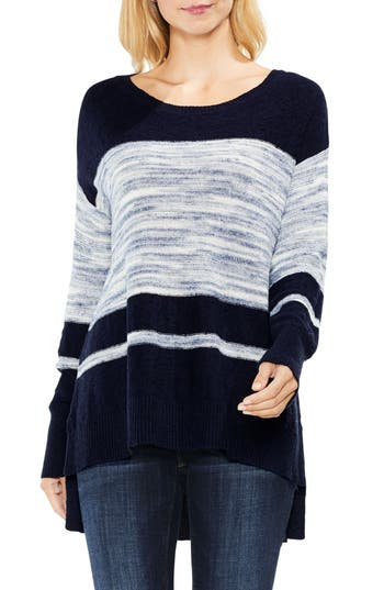 Women's Two By Vince Camuto Space Dye Stripe Sweater, Size X-Small - Blue