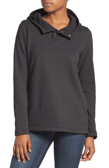 The North Face Knit Stitch Fleece Hoodie, Black