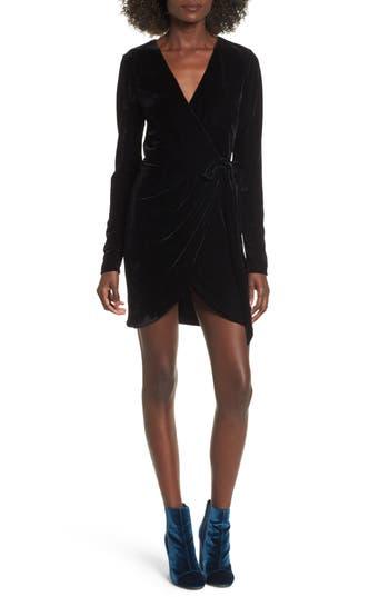 Nbd Lola Velvet Wrap Dress