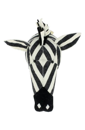 Fiona Walker Stripe Zebra Head Wall Art