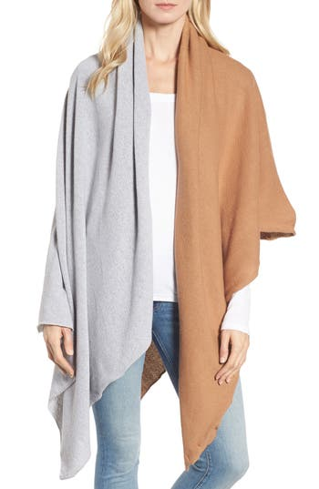 Women's Donni Charm Chilly Colorblock Blanket Scarf, Size One Size - Brown