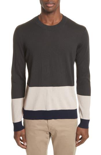Atm Anthony Thomas Melillo Colorblock Merino Wool Sweater, Blue