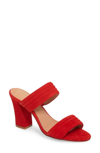 Women's Halogen Della Slide Sandal, Size 5.5 M - Red