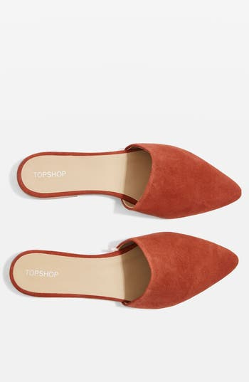 Topshop Angelina Flat Mule - Red