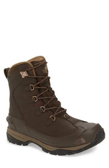 The North Face Chilkat Evo Waterproof Insulated Snow Boot- Brown