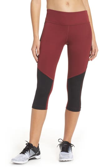 Reebok Workout Capris, Red