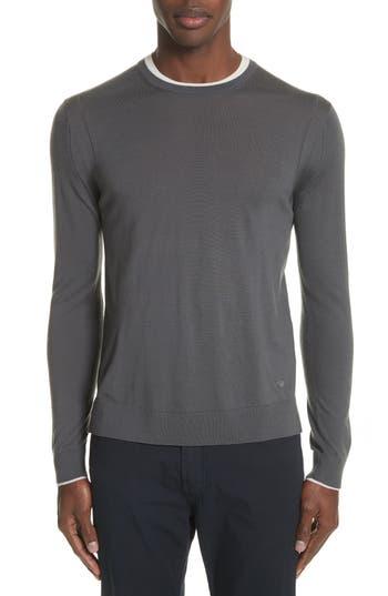 Emporio Armani Slim Fit Wool Sweater, Grey