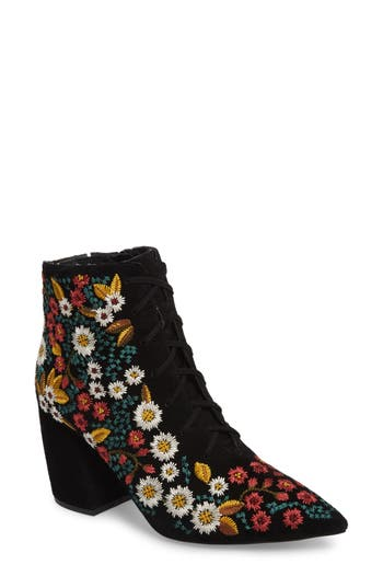 Jeffrey Campbell Finito Lace-Up Bootie, Black