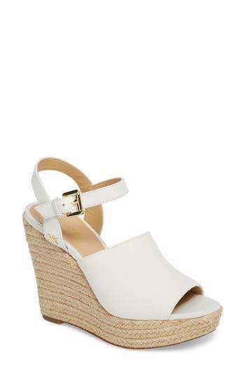 Michael Michael Kors Penelope Espadrille Wedge Sandal, White