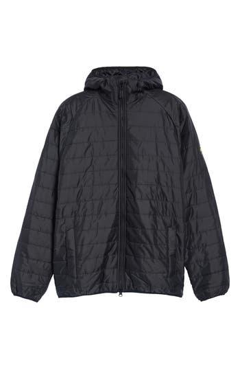 Barbour International Level Slim Fit Quilted Hooded Jacket, Black