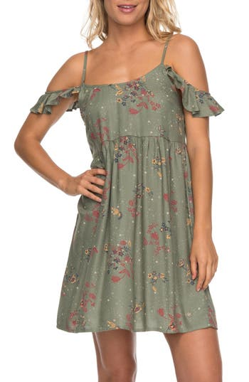 Roxy Do It My Way Cold Shoulder Sundress, Green