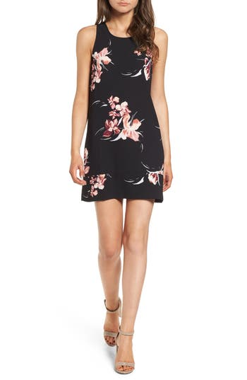 Leith Racerback Shift Dress, Black