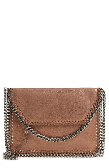 Stella Mccartney Metallic Faux Leather Crossbody Bag - Brown
