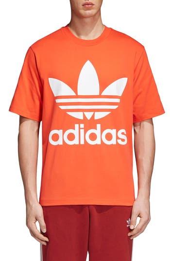 Adidas Originals Oversize Logo T-Shirt, Red