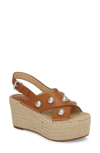 Marc Fisher Ltd Rella Espadrille Platform Sandal, Brown