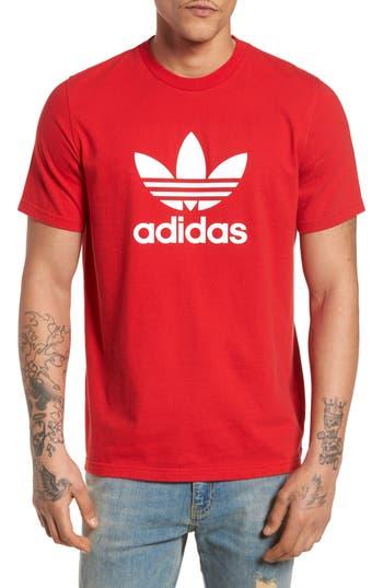 Adidas Originals Trefoil T-Shirt, Red