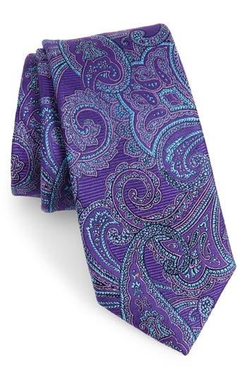 Men's Nordstrom Men's Shop Avalon Paisley Silk Tie, Size Regular - Purple